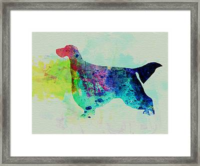 Gordon Setter Watercolor Framed Print by Naxart Studio