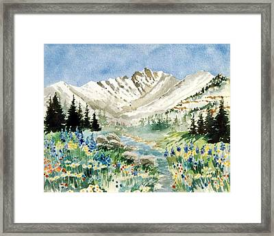 Gore Range 2 Framed Print by Patty  Frierson