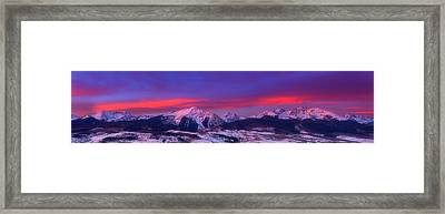 Gore Range Pano Framed Print by Darren  White