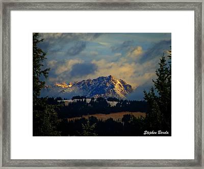 Gore Range Sunrise Framed Print by Stephen Barela