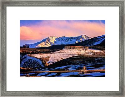 Gore Range Sunset Framed Print by John McArthur