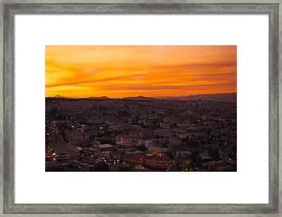 Goreme Sunset Framed Print