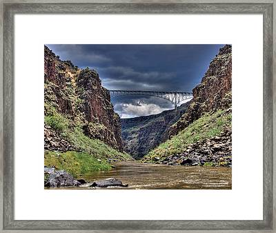 Gorge Bridge Framed Print