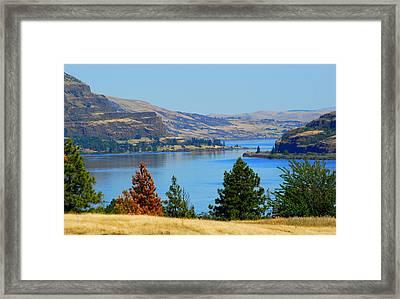 Gorge East Framed Print by Mamie Gunning