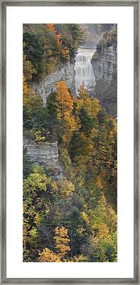 Gorge In Autumn Light Framed Print