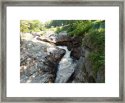 Gorge In Paris Maine Framed Print