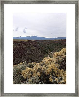 Gorge In Taos Framed Print by Polly Anna