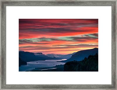 Gorge Sunrise Framed Print by Brian Bonham