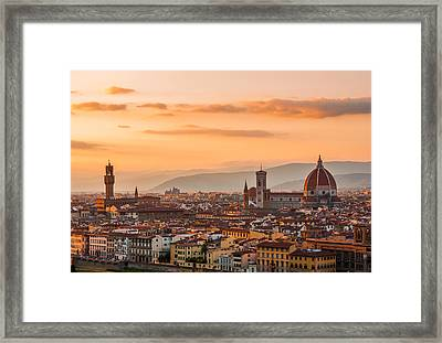 Gorgeous Florence City Framed Print by Gurgen Bakhshetsyan