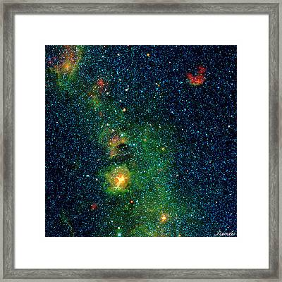 Gorgeous Galaxy Framed Print by Renee Anderson