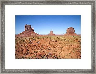 Gorgeous Monument Valley Framed Print by Melanie Viola