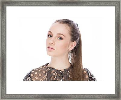 Gorgeous Young Girl With Earrings Framed Print by Anastasia Yadovina