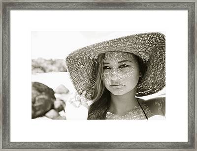 Gorgeous Young Woman Framed Print by Kicka Witte