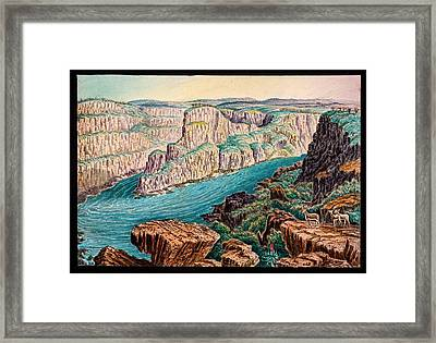 Gorges Below Victoria Falls Framed Print by Gustoimages/science Photo Libbrary