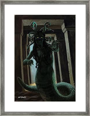 Gorgon Medusa Framed Print by Martin Davey