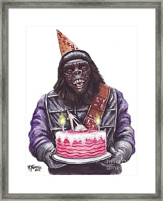 Gorilla Party Framed Print