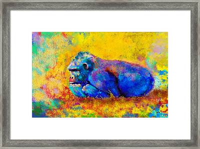 Framed Print featuring the painting Gorilla by Sean McDunn