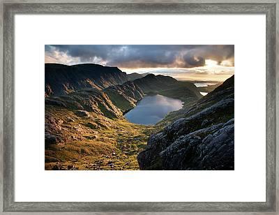 Gorm Loch Mor And Fionn Loch Beyond Framed Print