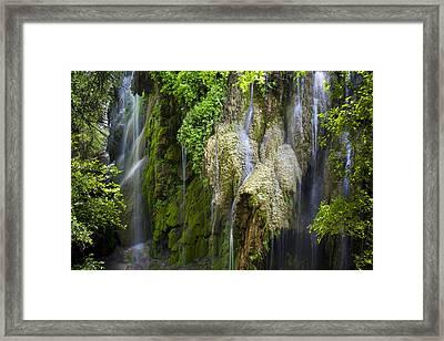 Gorman Falls Framed Print by Mark Weaver