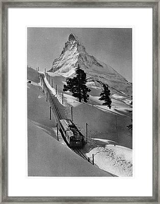 Gornergrat Rack Railway Framed Print