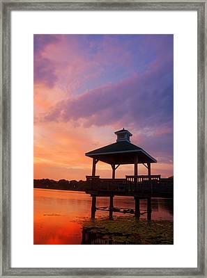 Gorton Pond Beauty Warwick Rhode Island Framed Print by Lourry Legarde