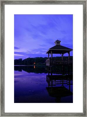 Gorton Pond Rhode Island Framed Print by Lourry Legarde