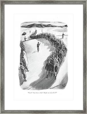 Gosh! You Know What? Maybe No More K.p Framed Print