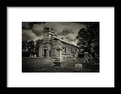 White Church Framed Prints
