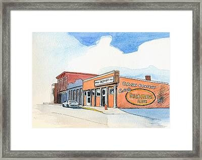 Framed Print featuring the painting Gosport Indiana 1 by Katherine Miller