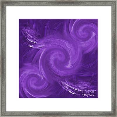 Gossip Has Wings - Abstract Art By Giada Rossi Framed Print by Giada Rossi