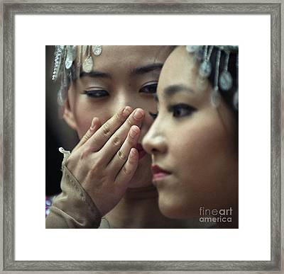 Framed Print featuring the photograph Gossip by Michel Verhoef