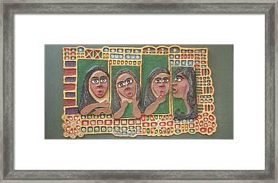 Gossip Mongers 2 Framed Print