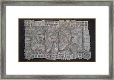 Gossip Mongers Framed Print