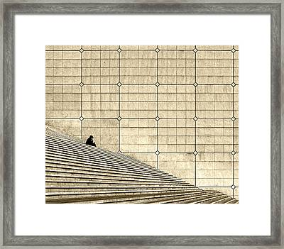 Gossip Framed Print by Robert Krajnc