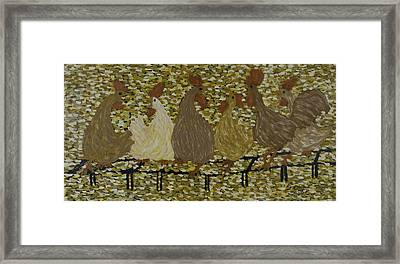 Gossiping Chickens Framed Print by Kurt Olson