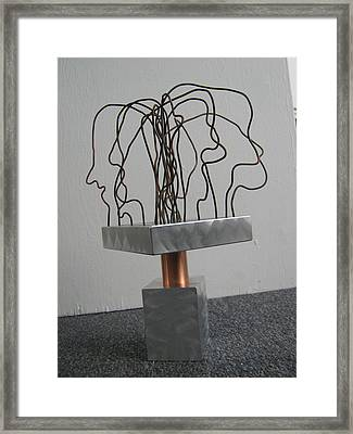 Framed Print featuring the sculpture Gossips by Tony Murray