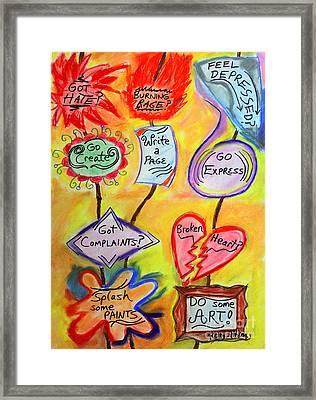 Got Hate? Framed Print by Kelly Athena