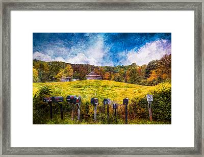 Got Mail? Framed Print by Debra and Dave Vanderlaan