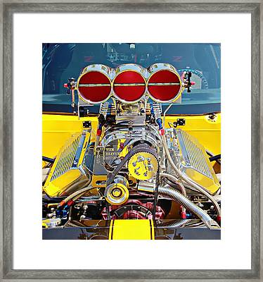 Framed Print featuring the photograph 1000 Hp Pro Street Z28 by Aaron Berg
