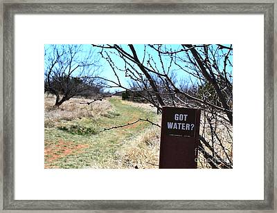 Got Water Framed Print
