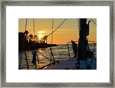 Framed Print featuring the photograph Got Wind Goes Home by Pamela Blizzard