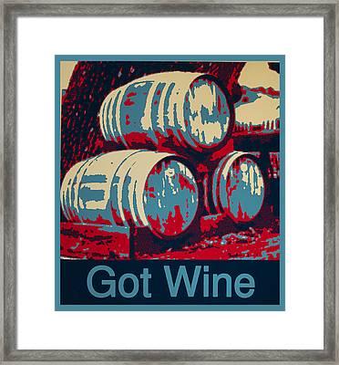 Got Wine Blue Framed Print