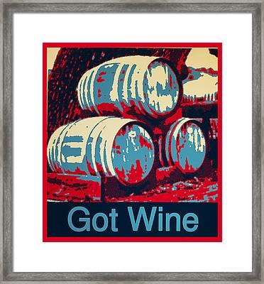 Got Wine Red Framed Print