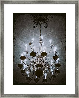 Goth Chandelier Framed Print by Marianna Mills