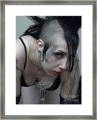 Goth Woman Prortrait Framed Print by Andrew Govan Dantzler