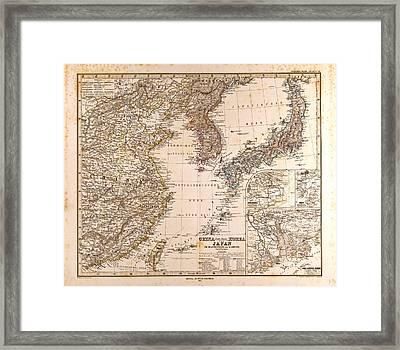 Gotha Justus Perthes 1872 Atlas. Perthes Johan Georg Justus Framed Print