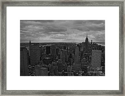 Gotham Framed Print by David Rucker