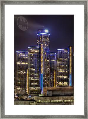 Gotham Detroit Framed Print by Nicholas  Grunas