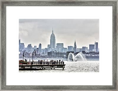 Gotham Harbor Framed Print by Nishanth Gopinathan