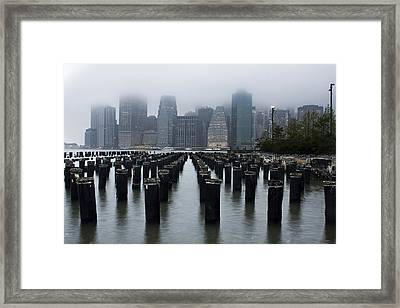 Gotham Mist Framed Print by Michael Murphy